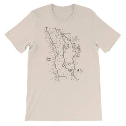 hand drawn maps shirts Lake Ozette Shirt